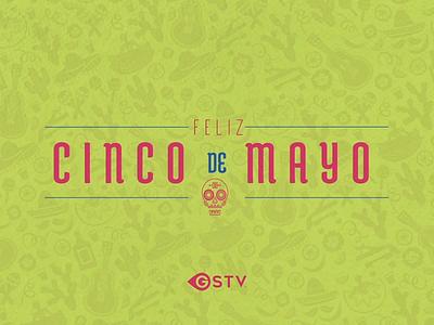 Happy Cinco de Mayo flower cactus maracas guitar dress skull mexican video animation mayo de cinco happy
