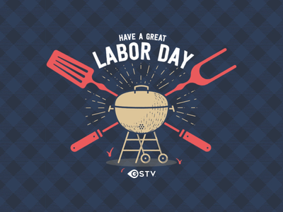 Happy Labor Day! typography logo illustration design animation motion bumper flannel day labor wheels tongs grill