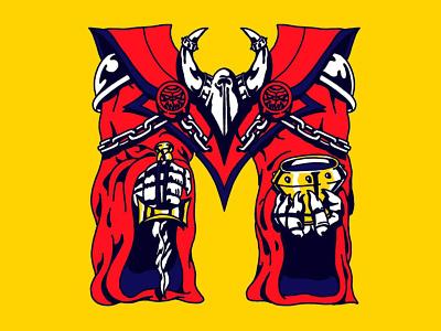 M for Mystic 36daysoftype2020 36daysoftype07 36daysoftype tattoo old school handmade death and rebirth vintage style hand-lettering illustration vintage danilo mancini sailor danny