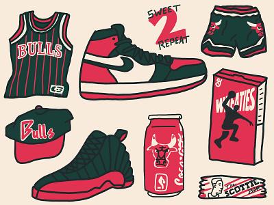 Bulls Memorabilia champs pippen mj shoes cool stuff bulls chicago bulls chicago drawing spot illustration hoops basketball illustration