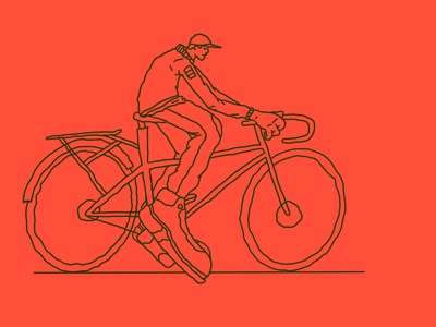 I like to ride my bicycle lines study character editorial line drawing lineart line illustration
