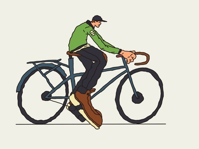 Full Bikes people brand editorial drawing person character bicyclist bicycle bike illustration