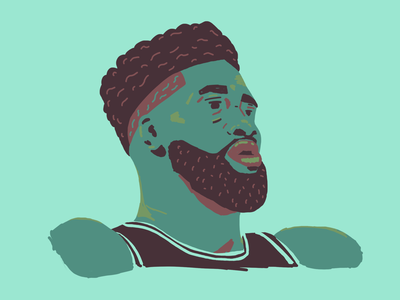 Jaylen Brown drawing portrait basketball illustration