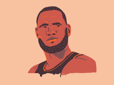 LeBron James drawing lakers nba lebronjames lebron portrait hoops basketball illustration