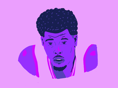 Kyle Lowry editorial drawing portrait design hoops basketball illustration