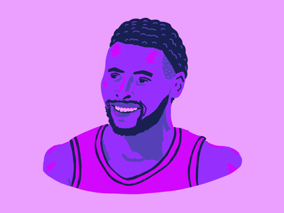 Steph Curry editorial illustration editorial drawing portrait design hoops basketball illustration