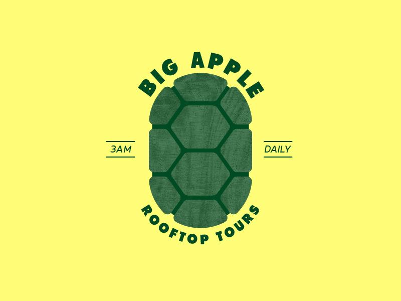 Big Apple. 3am branding badge illustration typography heroes in a half shell go ninja go ninja go ninja turtles turtles in time tmnt