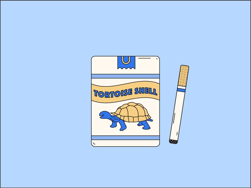 A Pack a Day: 3 turtle tortoise cigarettes vector illustration design illustration