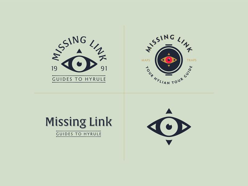 Missing Link brand vector identity zelda link badge logo branding