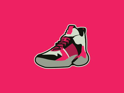 Why Not whynot shoe design icon hoops branding vector logo basketball badge illustration