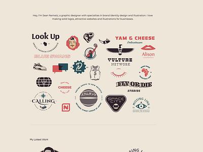 Website Update sean nemetz sean webdesign website logo web typography ux ui branding vector illustration