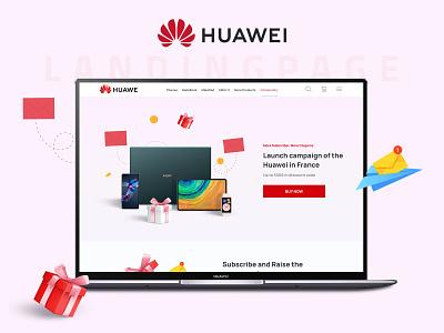Huawei Landing Page | UI Design creative marketing website design gift box advertising ui design landing page graphic design huawei ui dribbble design uxdesign uiux uidesign corporate