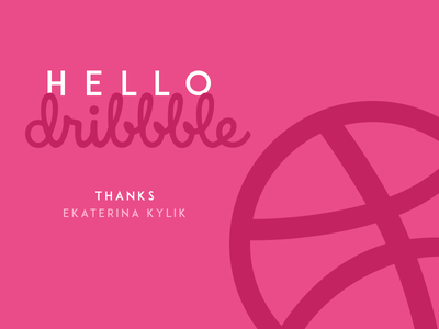 Hello Dribbble thanks shot player new invitation hello game first dribbble