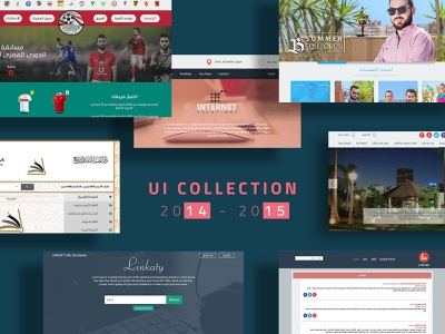 UI COLLECTION 2014 - 2015 design dribbble user interface webdesign corporate business company coding books football fashion uicollection game uiux uxdesign uidesign