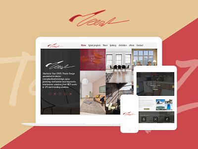 Trendz   Interior Design dribbble corporate web design ux ui uiux ui ux design interior designs