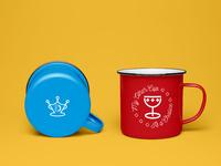 Dripking enamel mug