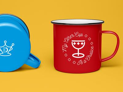 Drip King Coffee Enamel Mug product badge icon drip coffee coffee shop coffee