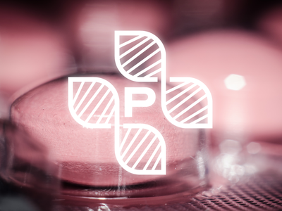 DNA-based Medicine Logo proove p spiral symmetry icon symbol monogram cross dna personalized medicine