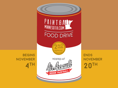 Annual Food Drive Campaign campbells soup soup campbells donations food drive paintball pop art andy warhol poster design marketing