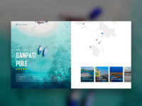 Tourism guide landing page design inspiration.