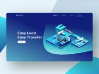 EasyPort - Logistics service lading page design