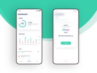 Goal tracking app UI design