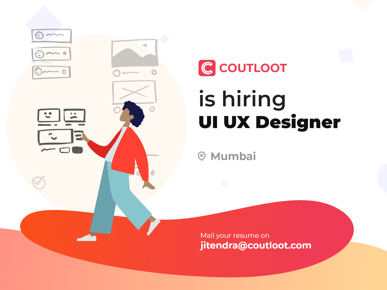 Coutloot Is Hiring Ui Ux Designer By Jitu Raut On Dribbble