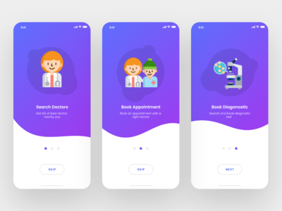 Onboarding Screens For Healthcare App