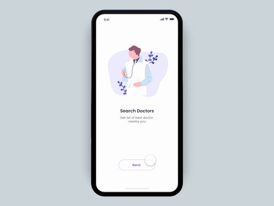 Health App Intro Screen Interaction android app ios vector illustration micro interactions micro animation inspiration android dribbble trend design health and fitness uiux design fitness app health care health app health
