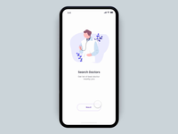 Health App Intro Screen Interaction
