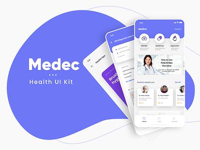 Medec App Free Ui Kit freebie healer ui kit vector micro interactions inspiration micro animation android dribbble trend app ios ui design ux medical app healthcare app health