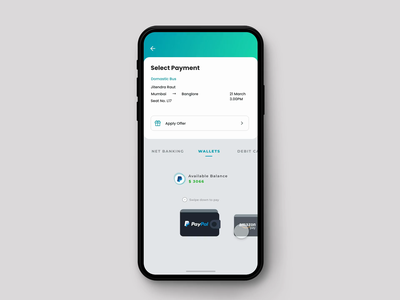 Wallet pay for ticket booking interaction animation ticket booking ticket app interaction design micro interactions micro animation inspiration dribbble ios trend ui app design ux