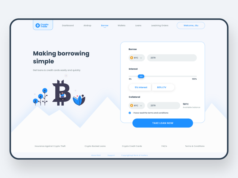 Crypto Trade - Web landing page illustration landing page micro interactions micro animation inspiration web dribbble trend ios app ui design ux