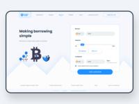 Crypto Trade - Web landing page