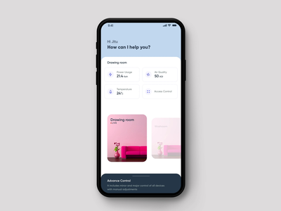 Smart Home Control App home automation smarthome smart home app micro interactions android micro animation inspiration dribbble trend ios app ui design ux