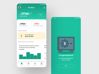 Save money app 2019 trend 2019 micro animation android inspiration dribbble trend ios app ui design ux