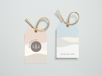 Logo and brand identity for Smoke & Slate Handmade knitwear
