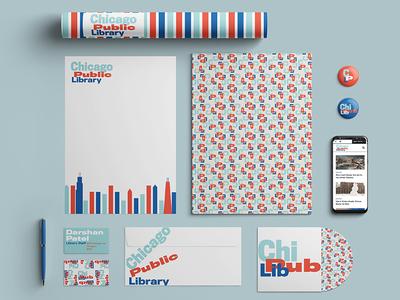 Brand Identity Concept for Chicago Public Library logo stationery library logo design typography brand identity branding