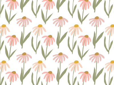 illustrated flower pattern design drawing pink bright cute happy garden floral illustration graphic design illustrator designer design floral floral pattern flower illustration illustration pattern design pattern art pattern flowers flower