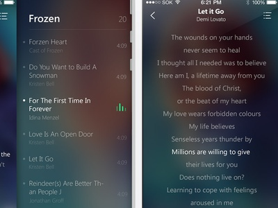 Joox player ui music app