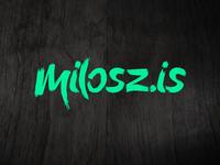 New milosz.is lettering