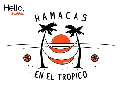 Hamacas En El Tropico outdoors hamaca tropical aruko illustration logo design