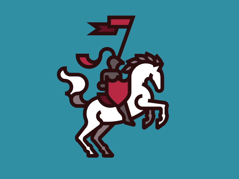 Knight knight horse chivalry illustration identity mark logo line vancouver