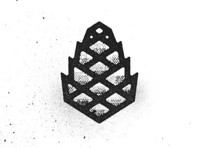 Pinecone icon logo texture vancouver illustration pinecone