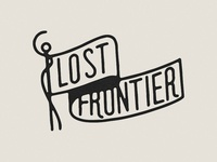 Lost Frontier flag sticker mule transfer vinyl icon vancouver camping flag logo