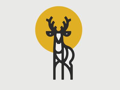 Deer thick lines logo vancouver wildlife deer