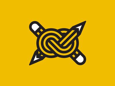 Pencil Knot nautical vancouver knot logo pencil