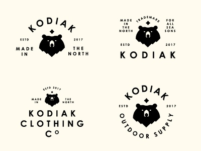 Kodiak alaska century logo kodiak north lockup bear