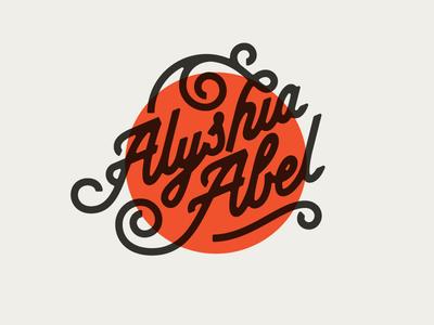 Alyshia Abel Lettering logo line mono lettering