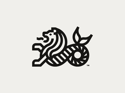 Sea-Lion mer-lion logo lion sea